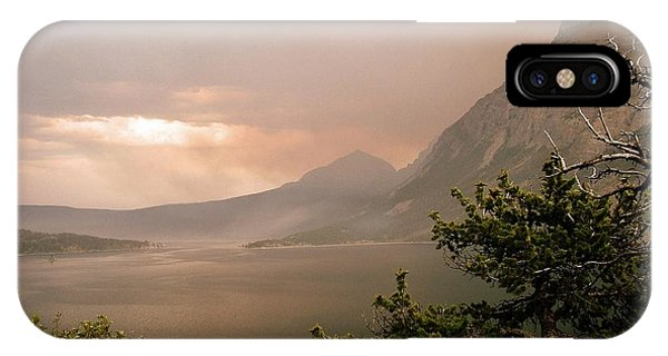 St Mary Lake In The Smoke IPhone Case