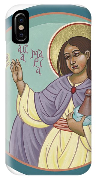 IPhone Case featuring the painting St Mary Magdalen  Rabboni -  John 20 16 by William Hart McNichols