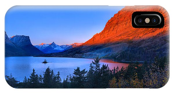 Rocky Mountain Np iPhone Case - St Mary Orange Peaks Panorama by Adam Jewell