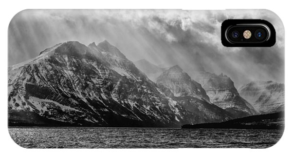 St Mary Storm, Glacier National Park  IPhone Case