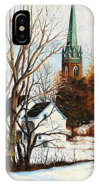 St Michael's Spire In Winter Phone Case by Cathleen Richards-Green