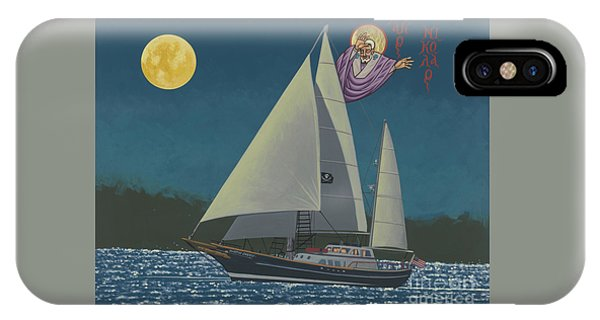 IPhone Case featuring the painting St Nicholas Patron Of Children, Sailors And Sea Shepherds- 296 by William Hart McNichols