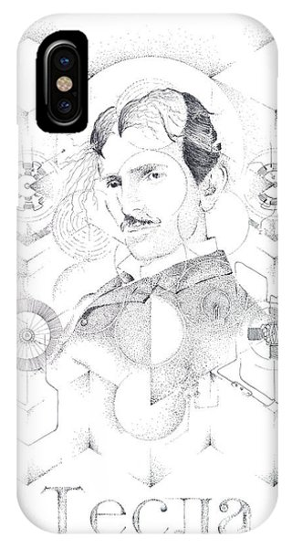 St. Nikola Tesla Of Serbia Sombra De Arreguin IPhone Case