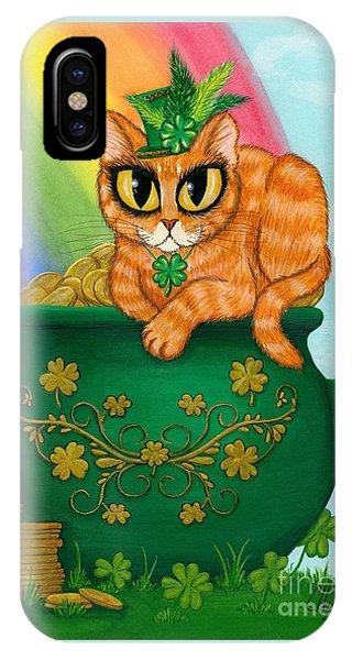 St. Paddy's Day Cat - Orange Tabby IPhone Case