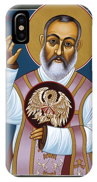 St Padre Pio Mother Pelican 047 IPhone Case