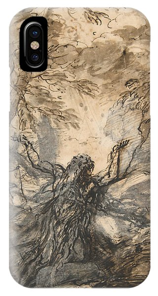 Rosa iPhone Case - St. Paul, Hermit by Salvator Rosa
