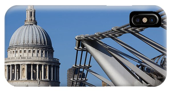 St Pauls Cathedral And The Millenium Bridge  IPhone Case