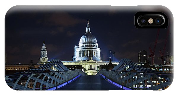 iPhone Case - St Paul's Cathedral And The Millennium Bridge by Jane Rix