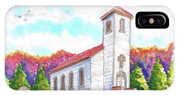St. Peter's Catholic Church, Fayette, Mi IPhone Case