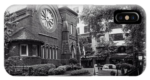 St. Peter's Episcopal Church In Black And White IPhone Case