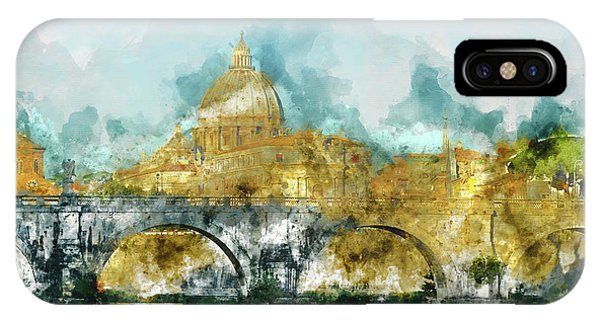 St. Peter's In Vatican City Rome Italy IPhone Case