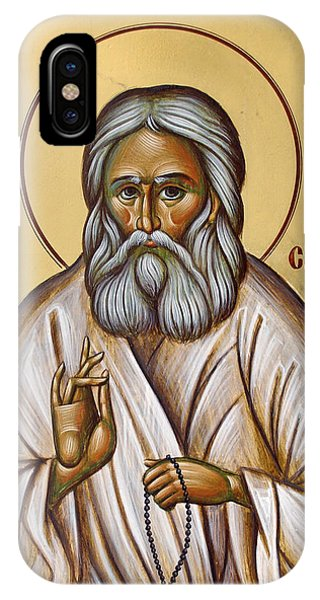 St Seraphim Of Sarov Phone Case by Julia Bridget Hayes