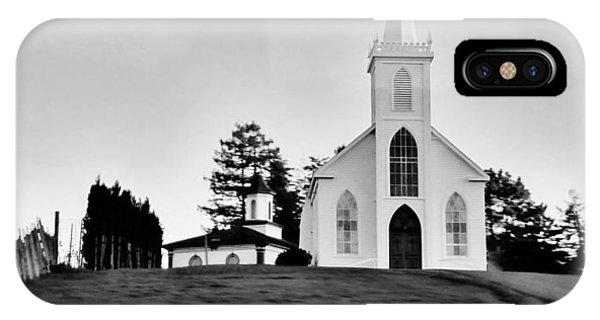 St Theresa Of Avila In Bodega Bay Used To Film The Birds By Alfred Hitchcock IPhone Case