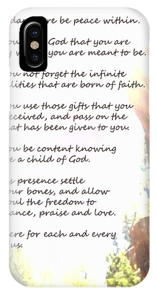 St Therese Of Lisieux Prayer And True Light Lower Emerald Pools Zion IPhone Case