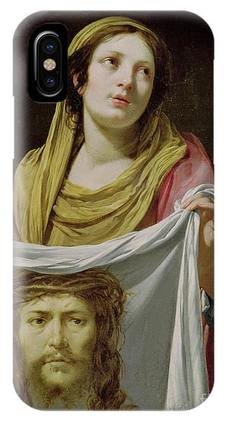 Shrouds iPhone Case - St. Veronica Holding The Holy Shroud by Simon Vouet