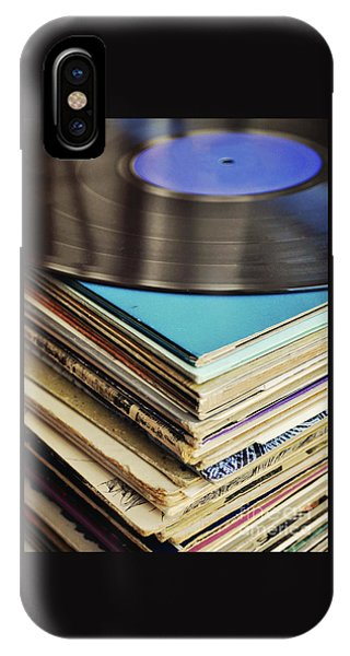 Vintage iPhone Case - Stack Of Records by Lyn Randle