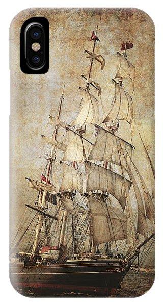 Schooner iPhone Case - Stad Amsterdam 3 Masted Clipper by Daniel Hagerman