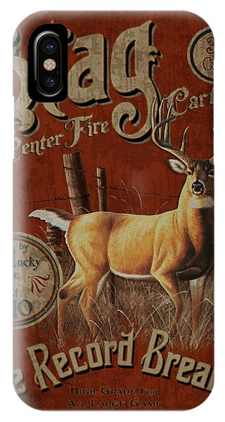 Stag iPhone Case - Stag Cartridges Sign by JQ Licensing