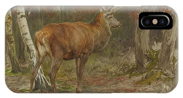 Rosa iPhone Case - Stag On The Watch by Rosa Bonheur