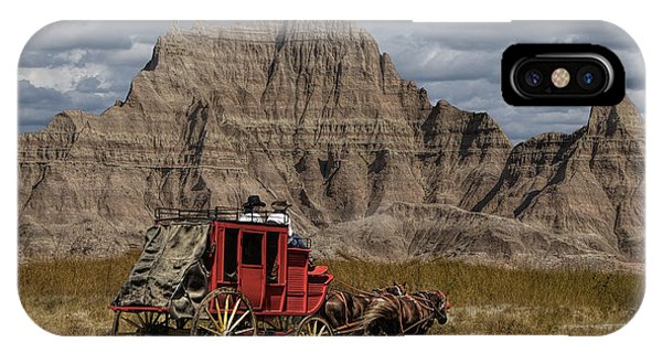Stage Coach In The Badlands IPhone Case