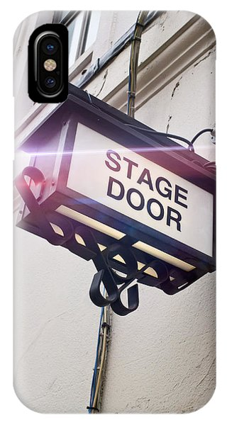 Behind The Scene iPhone Case - Stage Door Sign by Tom Gowanlock