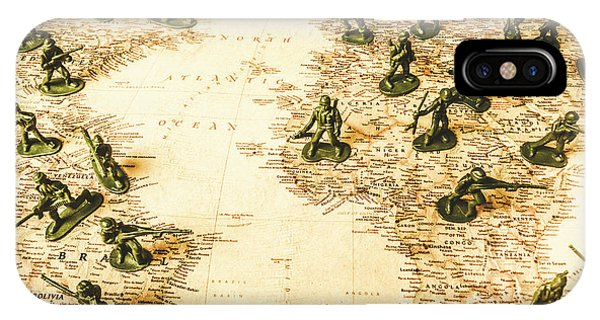 Old World iPhone Case - Staged World War by Jorgo Photography - Wall Art Gallery