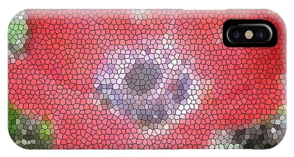 Stain Glass Anemone Phone Case by Debra     Vatalaro