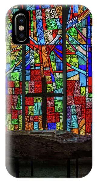 Stained Glass And Stone Altar IPhone Case