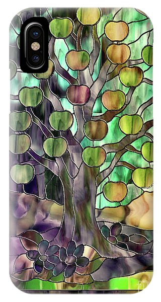 Stained Glass Apple Tree IPhone Case