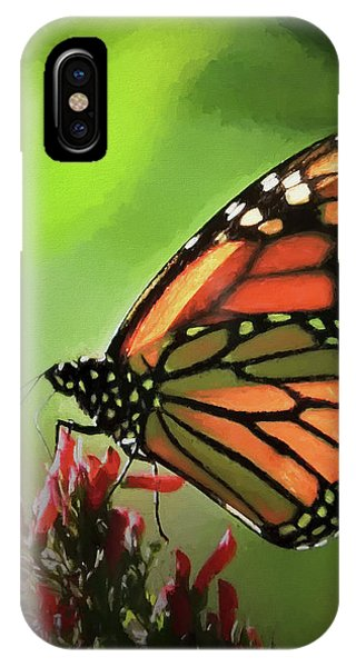 IPhone Case featuring the photograph Stained Glass Butterfly by Penny Lisowski