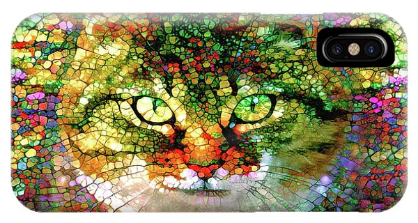 Stained Glass Cat IPhone Case