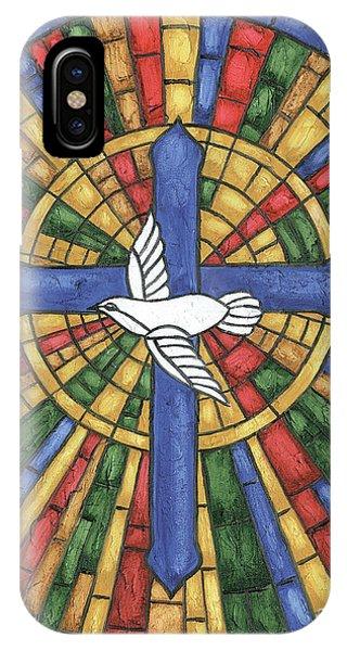 Cross iPhone X Case - Stained Glass Cross by Debbie DeWitt