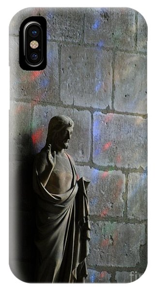 iPhone Case - Stained Glass Illuminates Christ by Christine Jepsen