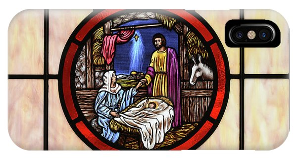 Stained Glass Nativity Window IPhone Case