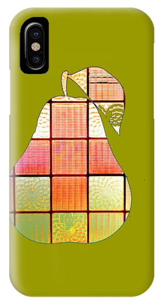 Stained Glass Pear IPhone Case