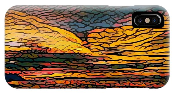 Stained Glass Sunset IPhone Case
