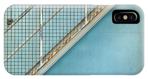 Stairs On Blue Wall IPhone Case