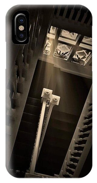 Stairway Light, Redstone Castle, Colorado IPhone Case