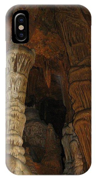 Stalacmites In Luray Caverns Va  IPhone Case