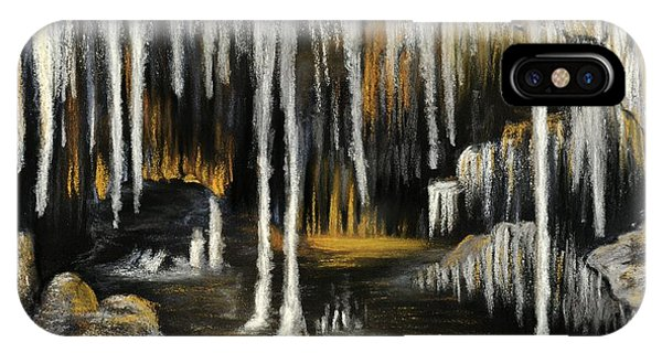 IPhone Case featuring the painting Stalactite Cave by Anastasiya Malakhova