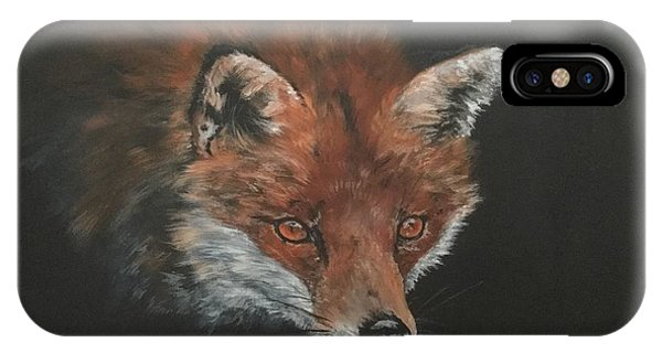 Red Fox In Stalking Mode IPhone Case