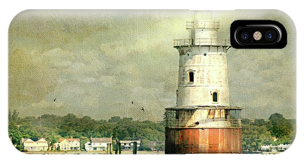 Stamford iPhone Case - Stamford Harbor Lighthouse Circa 1882 by Diana Angstadt
