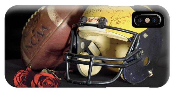 Stan Edwards's Autographed Helmet With Roses IPhone Case