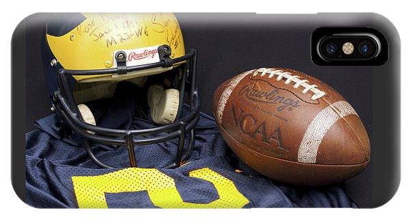 Stan Edwards's Autographed Wolverine Helmet IPhone Case