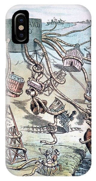 Squid iPhone Case - Standard Oil Cartoon by Granger