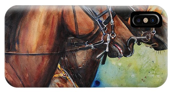 iPhone Case - Standardbred Trotter Pacer Painting by Maria Reichert