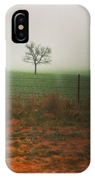 Standing Alone, A Lone Tree In The Fog. IPhone Case