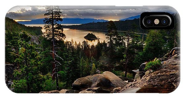 Standing At Eagle Falls IPhone Case