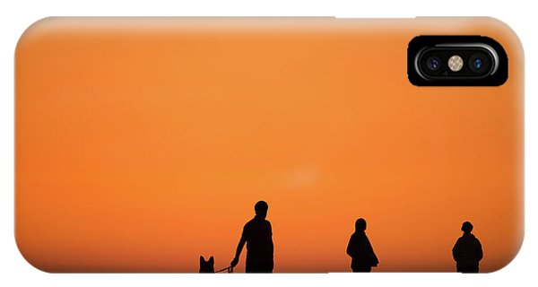 Standing At Sunset IPhone Case