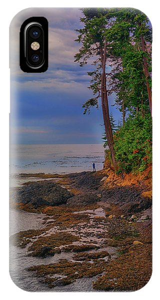 Standing By The Sea IPhone Case